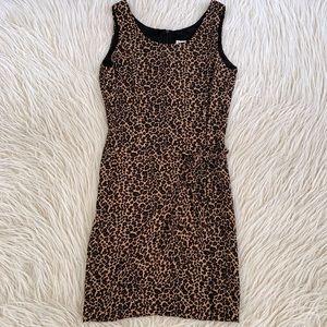 VTG cheetah animal print faux wrap mini dress